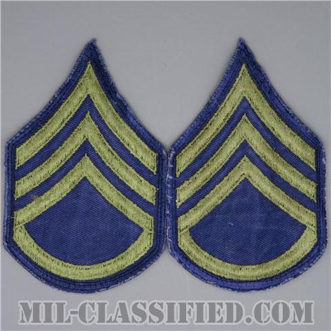 軍曹(Sergeant (SGT))[カットエッジ/階級章(1951-1959)/パッチ/ペア(2枚1組)/中古1点物]の画像