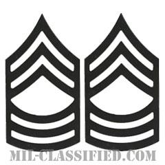 曹長(Master Sergeant (MSG))[サブデュード(ブラックメタル)/階級章/バッジ/ペア(2個1組)]の画像