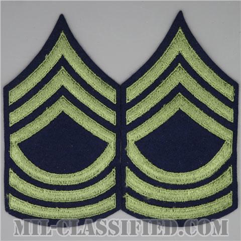 曹長(Master Sergeant (MSG))[ウール・フェルト生地刺繍タイプ/階級章(1942-1948)/パッチ/ペア(2枚1組)]の画像