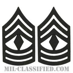 先任曹長(First Sergeant (1SG))[サブデュード(ブラックメタル)/階級章/バッジ/ペア(2個1組)]の画像