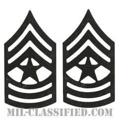 上級曹長(Sergeant Major (SGM))[サブデュード(ブラックメタル)/階級章/バッジ/ペア(2個1組)]の画像