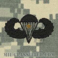 戦闘空挺章 (ベーシック) 降下1回(Combat Parachutist Badge, Basic, One Jump)[UCP(ACU)/パッチ]の画像