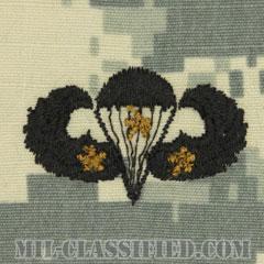 戦闘空挺章 (ベーシック) 降下3回(Combat Parachutist Badge, Basic, Three Jump)[UCP(ACU)/パッチ]の画像