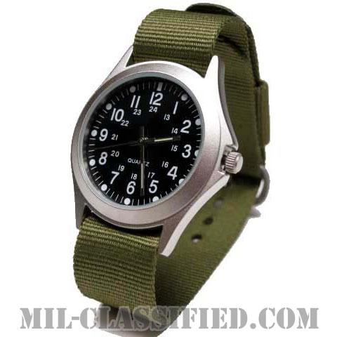 米軍 ミリタリースタイル 腕時計 メタルケース&ODバンドの画像