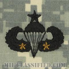 戦闘空挺章 (シニア) 降下2回(Combat Parachutist Badge, Senior, Two Jump)[UCP(ACU)/パッチ]の画像
