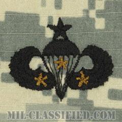 戦闘空挺章 (シニア) 降下3回(Combat Parachutist Badge, Senior, Three Jump)[UCP(ACU)/パッチ]の画像