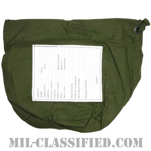 米軍 パーソナルエフェクツバッグ (所持品袋) コットン製 1991年ロットの画像