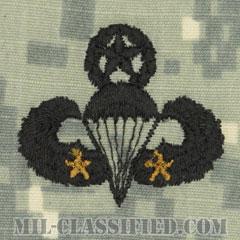 戦闘空挺章 (マスター) 降下2回(Combat Parachutist Badge, Master, Two Jump)[UCP(ACU)/パッチ]の画像