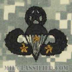 戦闘空挺章 (マスター) 降下3回(Combat Parachutist Badge, Master, Three Jump)[UCP(ACU)/パッチ]の画像
