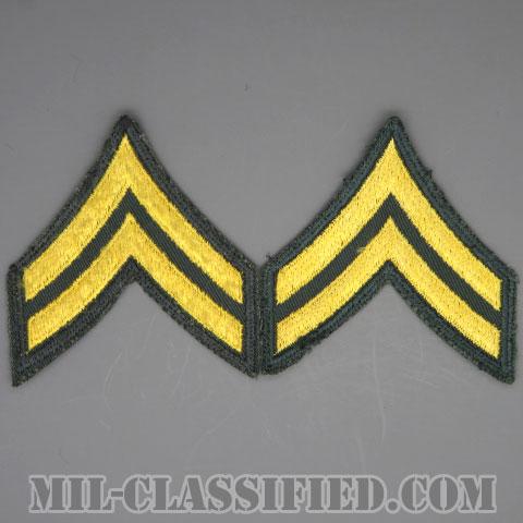 伍長(Corporal (CPL))[カラー/カットエッジ/階級章(1959-)/パッチ/中古1点物(ペア2枚1組)]の画像