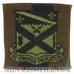 第18歩兵連隊(18th Infantry Regiment)[サブデュード/ウッドランド生地/ポケットパッチ]の画像
