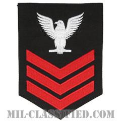 一等兵曹(レッド)(Petty Officer First Class)[ネイビーブルー/Male(男性用)/腕章(Rating Badge)階級章]の画像