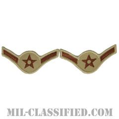 二等空兵(Airman)[デザート/メロウエッジ/空軍階級章(1993-)/Large(男性用)/パッチ/ペア(2枚1組)]の画像