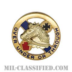 第104騎兵連隊(104th Cavalry Regiment)[カラー/クレスト(Crest・DUI・DI)バッジ]の画像