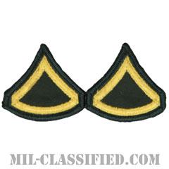 上等兵(Private First Class (PFC))[カラー(グリーン)/階級章(女性用)/-1996/パッチ/ペア(2枚1組)]の画像