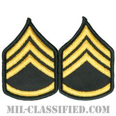 二等軍曹(Staff Sergeant (SSG))[カラー(グリーン)/階級章(女性用)/-1996/パッチ/ペア(2枚1組)]の画像
