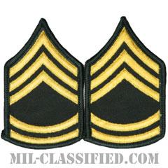 一等軍曹(Sergeant First Class (SFC))[カラー(グリーン)/階級章(女性用)/-1996/パッチ/ペア(2枚1組)]の画像