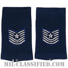 曹長(Master Sergeant)[空軍ブルー/ショルダー階級章(-1991)/ロングサイズ肩章/ペア(2枚1組)]の画像