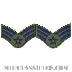 上等空兵(Senior Airman)[サブデュード/メロウエッジ/空軍階級章(1991-)/Small(女性用)/パッチ/ペア(2枚1組)]の画像