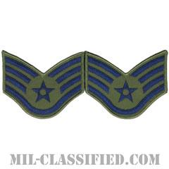 軍曹(Staff Sergeant)[サブデュード/メロウエッジ/空軍階級章(1991-)/Small(女性用)/パッチ/ペア(2枚1組)]の画像