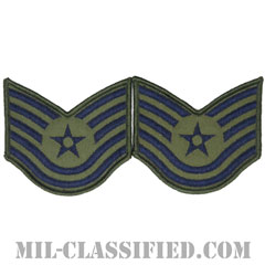 技能軍曹(Technical Sergeant)[サブデュード/メロウエッジ/空軍階級章(1991-)/Small(女性用)/パッチ/ペア(2枚1組)]の画像