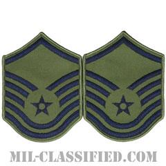 曹長(Master Sergeant)[サブデュード/メロウエッジ/空軍階級章(1991-)/Small(女性用)/パッチ/ペア(2枚1組)]の画像
