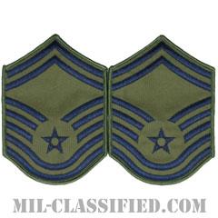 上級曹長(Senior Master Sergeant)[サブデュード/メロウエッジ/空軍階級章(1991-)/Small(女性用)/パッチ/ペア(2枚1組)]の画像