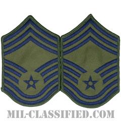 最上級曹長(Chief Master Sergeant)[サブデュード/メロウエッジ/空軍階級章(1991-)/Small(女性用)/パッチ/ペア(2枚1組)]の画像