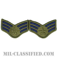 上等空兵(Senior Airman)[サブデュード/メロウエッジ/空軍階級章(-1991)/Small(女性用)/パッチ/ペア(2枚1組)]の画像