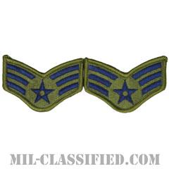 軍曹(Sergeant)[サブデュード/メロウエッジ/空軍階級章(-1991)/Small(女性用)/パッチ/ペア(2枚1組)]の画像