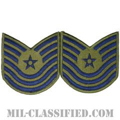 曹長(Master Sergeant)[サブデュード/メロウエッジ/空軍階級章(-1991)/Large(男性用)/パッチ/ペア(2枚1組)]の画像