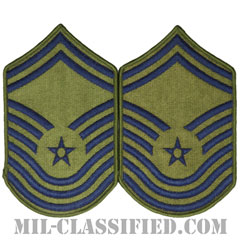 最上級曹長(Chief Master Sergeant)[サブデュード/メロウエッジ/空軍階級章(-1991)/Large(男性用)/パッチ/ペア(2枚1組)]の画像
