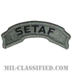 南ヨーロッパタスクフォースタブ(Southern European Task Force(SETAF)Tab)[UCP(ACU)/メロウエッジ/ベルクロ付パッチ]の画像