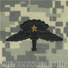 戦闘自由降下章 (ベーシック) 降下1回(Combat Military Freefall Parachutist, Basic, One Jump)[UCP(ACU)/パッチ]の画像