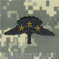戦闘自由降下章 (ベーシック) 降下3回(Combat Military Freefall Parachutist, Basic, Three Jump)[UCP(ACU)/パッチ]の画像