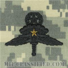 戦闘自由降下章 (マスター) 降下1回(Combat Military Freefall Parachutist, Jumpmaster, One Jump)[UCP(ACU)/パッチ]の画像