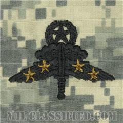 戦闘自由降下章 (マスター) 降下4回(Combat Military Freefall Parachutist, Jumpmaster, Four Jump)[UCP(ACU)/パッチ]の画像