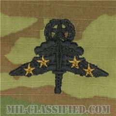 戦闘自由降下章 (マスター) 降下4回(Combat Military Freefall Parachutist, HALO, Jumpmaster, Four Jump)[OCP/パッチ]の画像