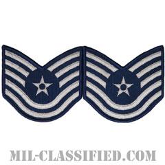 技能軍曹(Technical Sergeant)[カラー/メロウエッジ/空軍階級章(-1991)/Large(男性用)/パッチ/ペア(2枚1組)]の画像