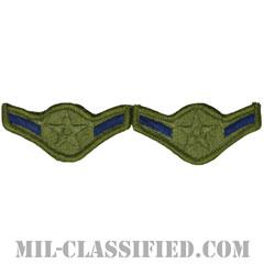 二等空兵(Airman)[サブデュード/メロウエッジ/空軍階級章(-1991)/Small(女性用)/パッチ/ペア(2枚1組)]の画像
