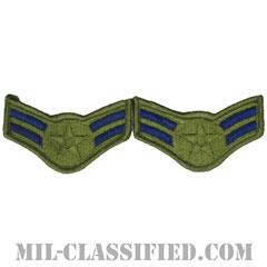 一等空兵(Airman First Class)[サブデュード/メロウエッジ/空軍階級章(-1991)/Small(女性用)/パッチ/ペア(2枚1組)]の画像