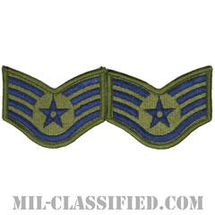 軍曹(Staff Sergeant)[サブデュード/メロウエッジ/空軍階級章(-1991)/Small(女性用)/パッチ/ペア(2枚1組)]の画像