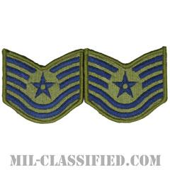 技能軍曹(Technical Sergeant)[サブデュード/メロウエッジ/空軍階級章(-1991)/Small(女性用)/パッチ/ペア(2枚1組)]の画像