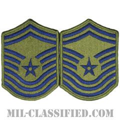 最上級曹長(Chief Master Sergeant)[サブデュード/メロウエッジ/空軍階級章(-1991)/Small(女性用)/パッチ/ペア(2枚1組)]の画像