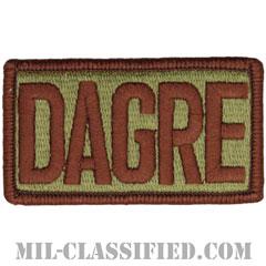 DAGRE(航空機地上対応対処展開チーム)(Deployed Aircraft Ground Response Element)[OCP/メロウエッジ/ベルクロ付パッチ]の画像