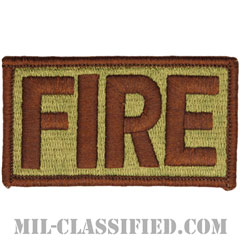 FIRE(消防隊)(Fire Fighters)[OCP/メロウエッジ/ベルクロ付パッチ]の画像