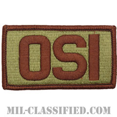 OSI(空軍特別捜査局)(Office of Special Investigations)[OCP/メロウエッジ/ベルクロ付パッチ]の画像