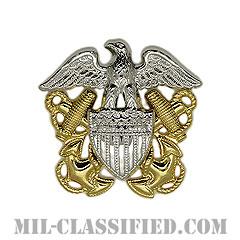 アメリカ海軍帽章 (将校用)(Navy Cap Device, Officer)[カラー/ギャリソンキャップ用/鏡面仕上げ/バッジ]の画像