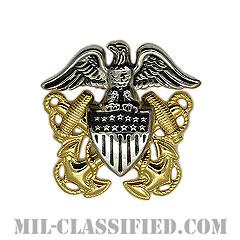 アメリカ海軍帽章 (将校用)(Navy Cap Device, Officer)[カラー/ギャリソンキャップ用/高浮彫り/バッジ]の画像