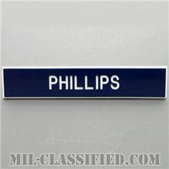 PHILLIPS [アメリカ空軍用ネームプレート(名札)]の画像
